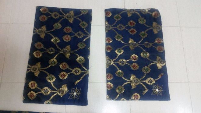 Dark Blue Bedsheet with 2 pillow covers for sale in Sharjah