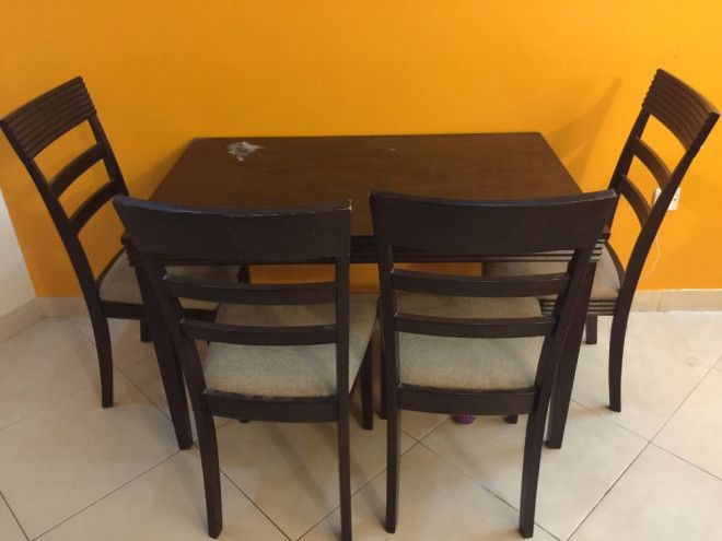 Dining Table 4 Chairs For Sale In UAE