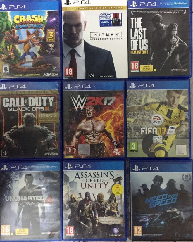 For sale games ps4 found in image is available free delivery