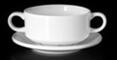 Ceramic Handle Soup Bowl with Saucer For Hotel/Cafe/Restaurant In Dubai