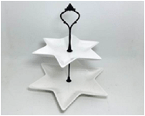 Ceramic Pastry Stand (Star, Square, Circle) For Hotel/Cafe/Restaurant In Dubai