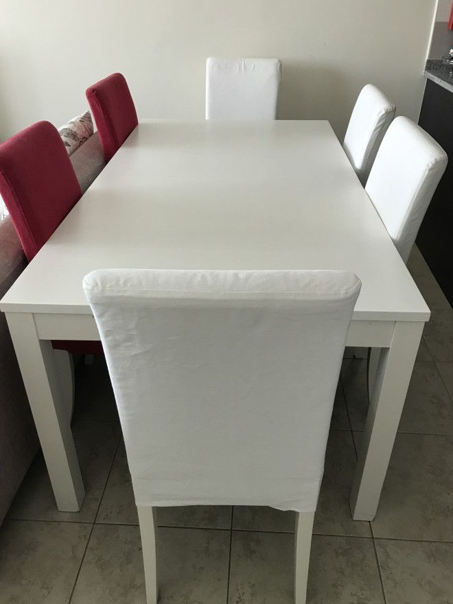 IKEA Dining Table With Six Chairs And Dresser