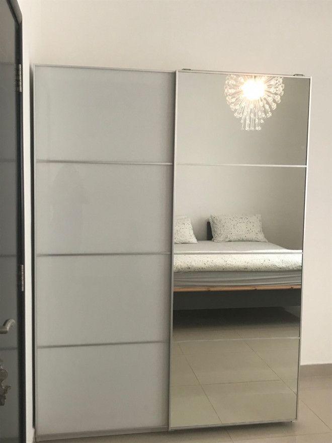 Ikea pax wardrobe white f rvik white glass for sale in - Mobile pax ikea ...