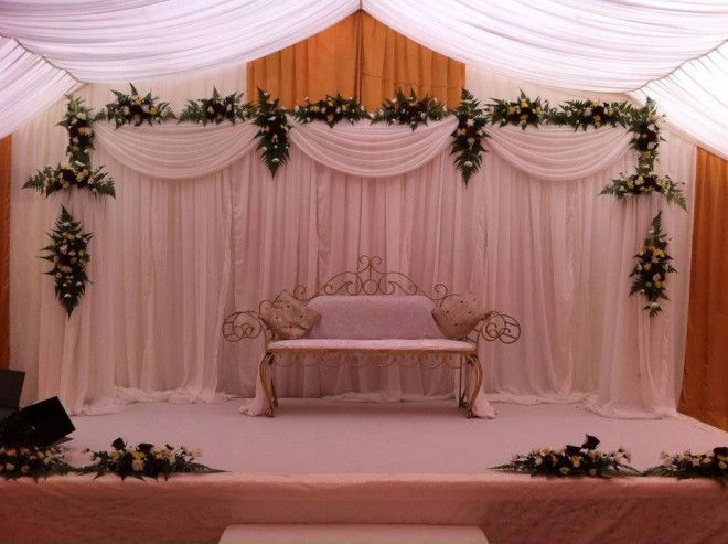 Indian pakistani arabic wedding decoration stages in dubai for Arabic wedding stage decoration
