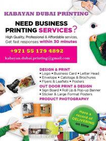 Kabayan Dubai Printing!!! : Design & Print, Out Door Print & Design...