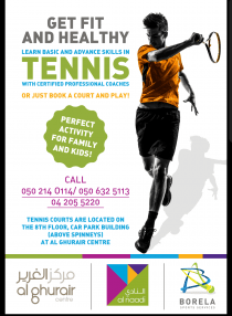 Looking for an activity? Wanna stay fit? Learn or play tennis!!!