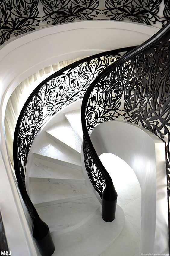 Metal Laser Cut Custom Design Handrails in Abu Dhabi from Pure Italian