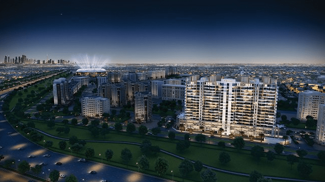 New Apartments for sale in Dubai Sports City with panoramic view