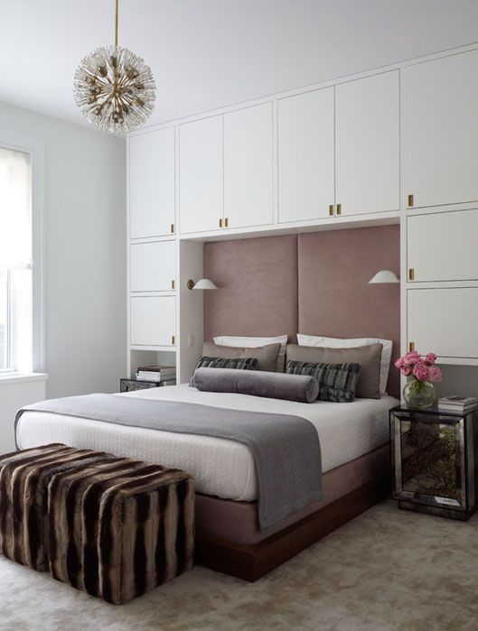 Pure Italian: Custom-made Built-in closets around the bed in AbuDhabi