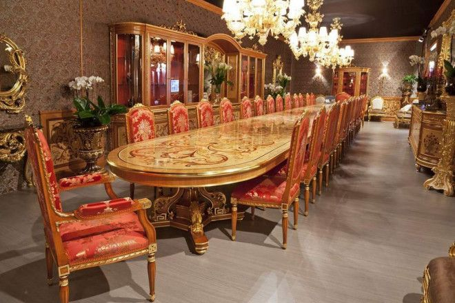 Italian Furniture in Abu Dhabi, Classic Dining Sets & Tables at Best Price