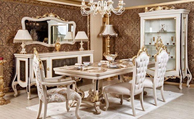 Custom Design Classic Dining Room for Sale in Abu Dhabi - Pure Italian