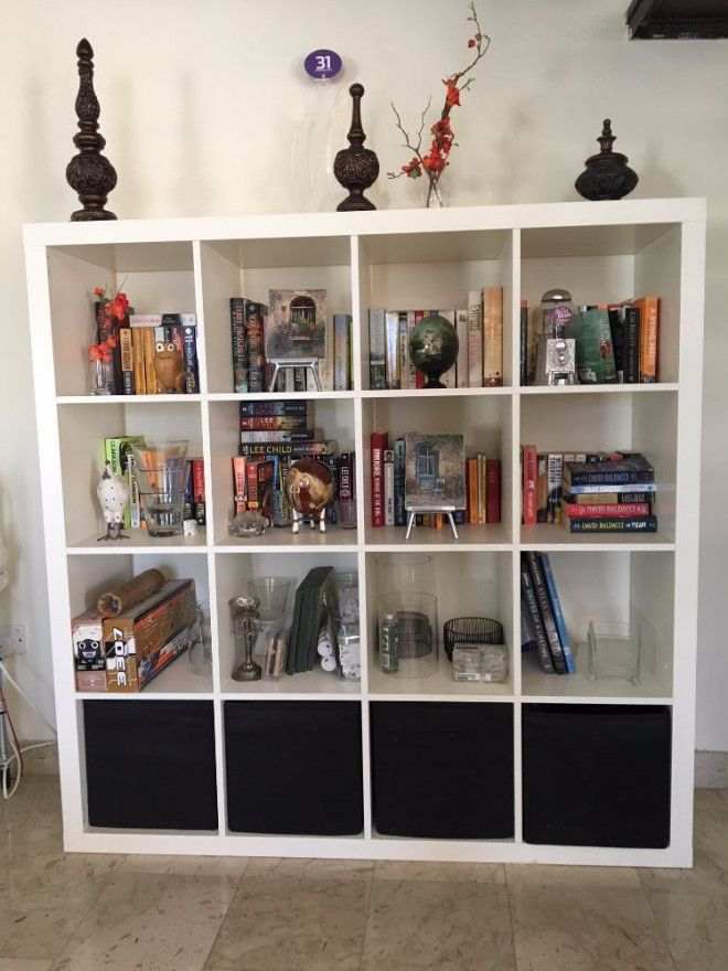 Three IKEA \'Expedit\' shelving units for sale - one large and two ...