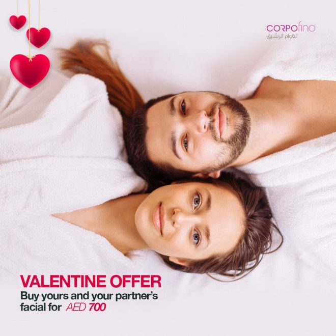 Valentine's Day Him & Her Facial Package | Corpofino Abu Dhabi