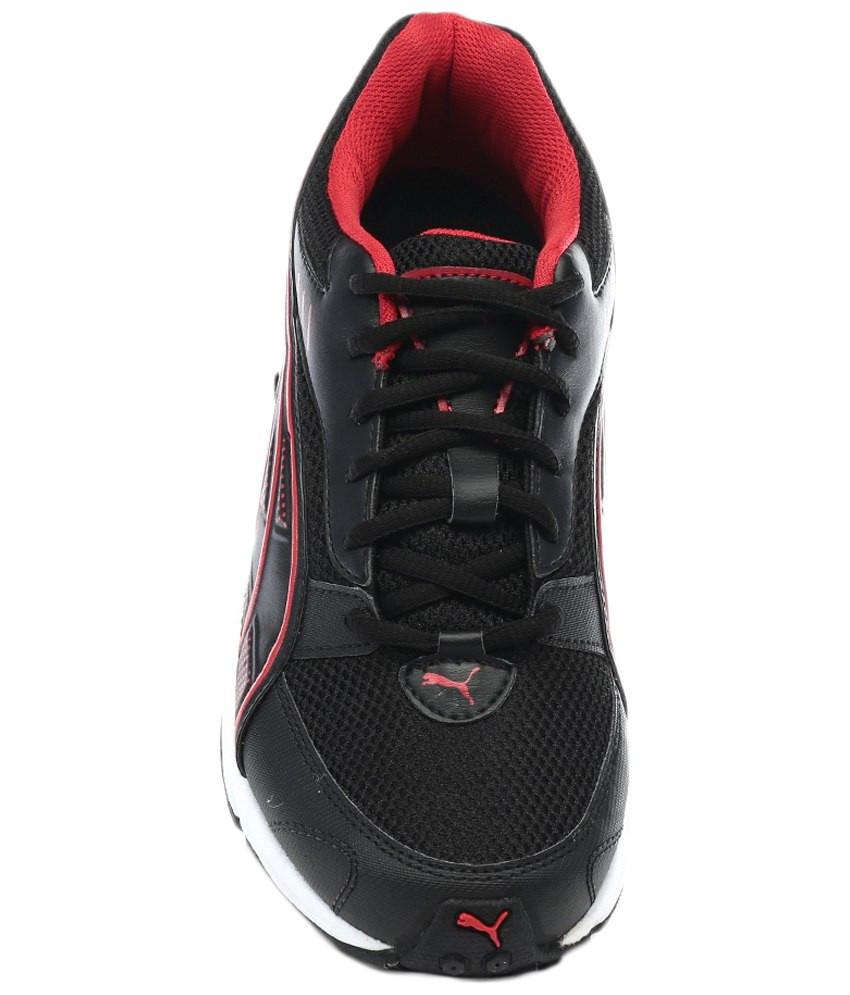 Puma Atom DP Black & Red Sports Shoes