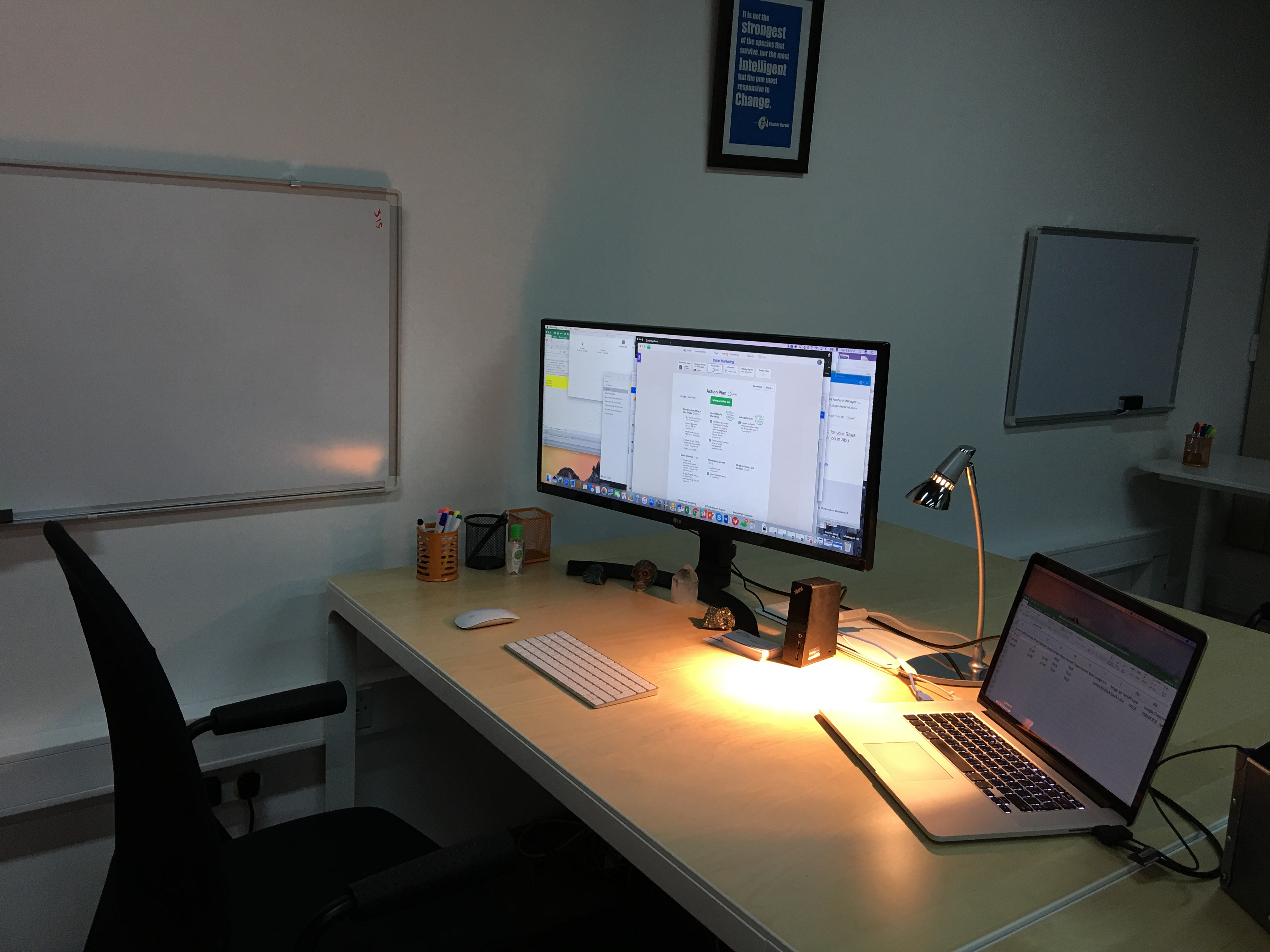 Oryx Cloud HQ - CEO Cubical - I traded a big office for a fresh and open space cubical.