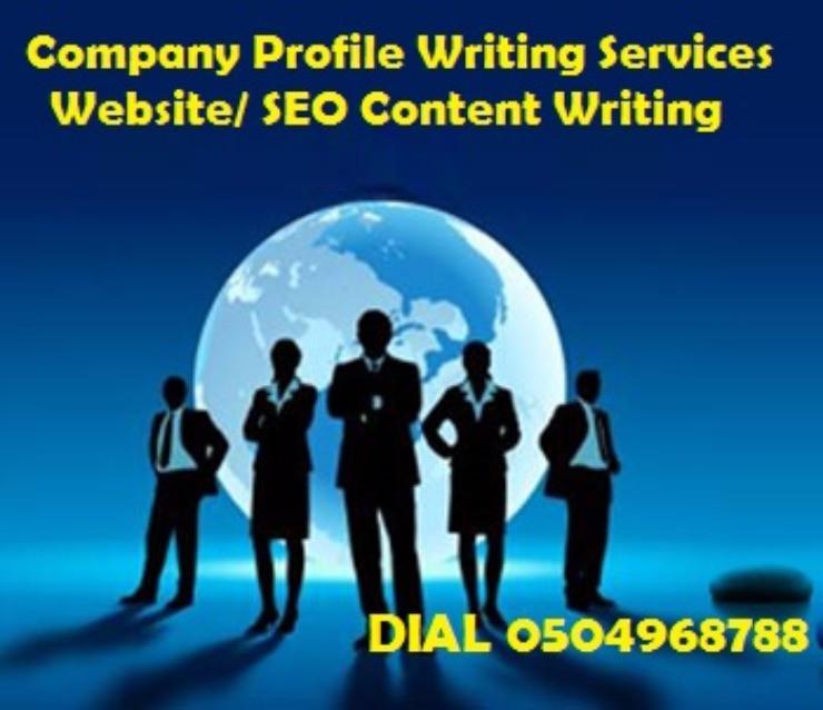 Professional Services! 0504968788 Attractive Company Profile – Website/ SEO Content Writing Company in UAE, GCC
