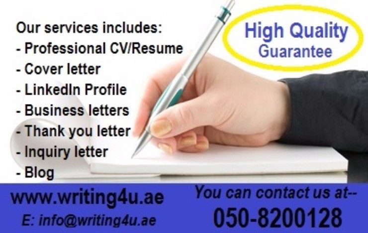 Be distinct DIAL 050-8200128 Quality Cover letter- CV/ Resume Writing Help in Dubai, UAE