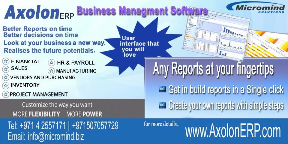 ERP Software in Dubai call +97142557171