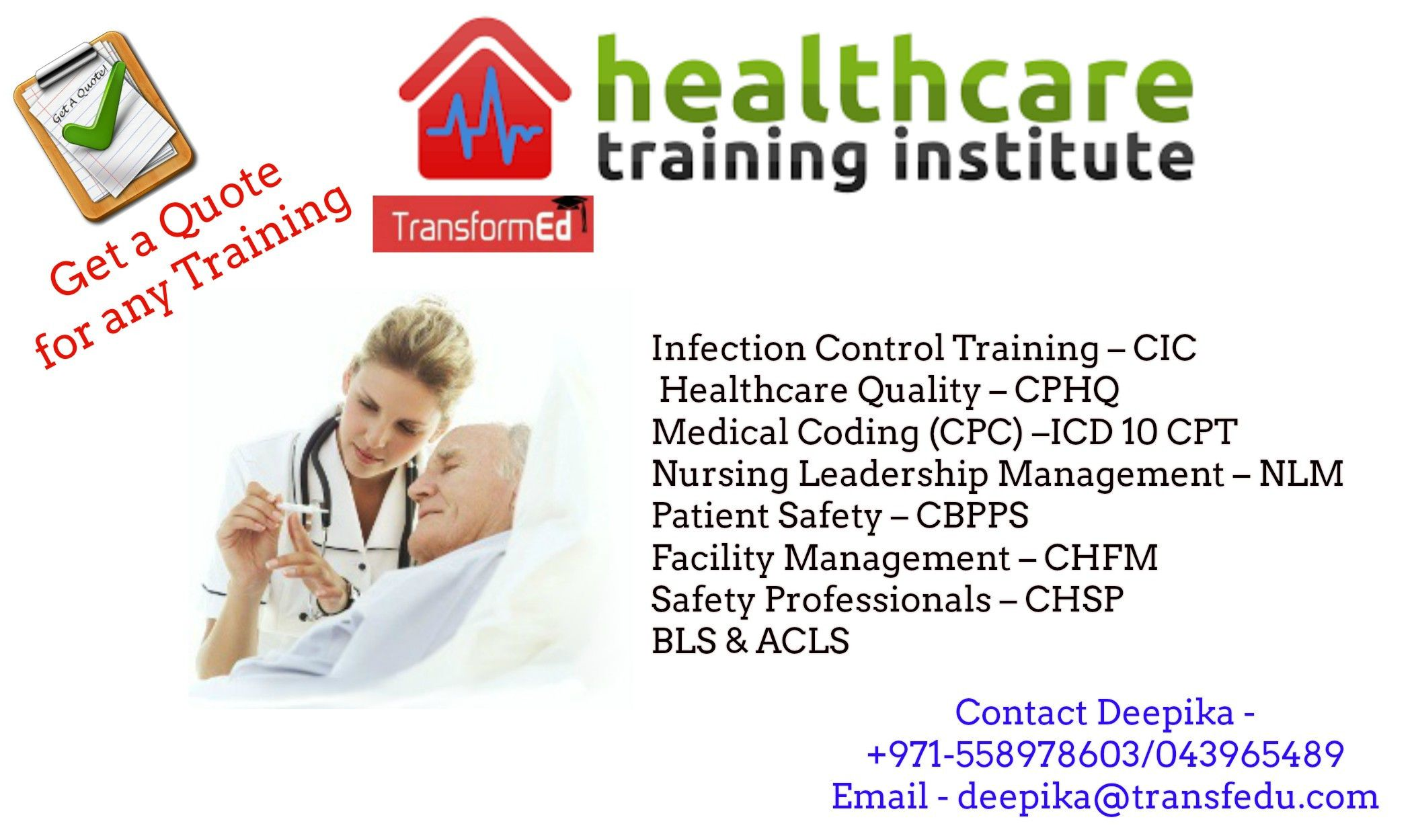 Healthcare Training | CIC Training | CPHQ - NAHQ |Medical Coding | Banking & Finance