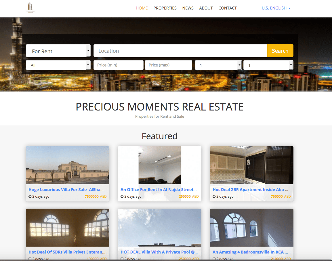 Who said Property Finder's Website theme is exclusive to Property Finder?