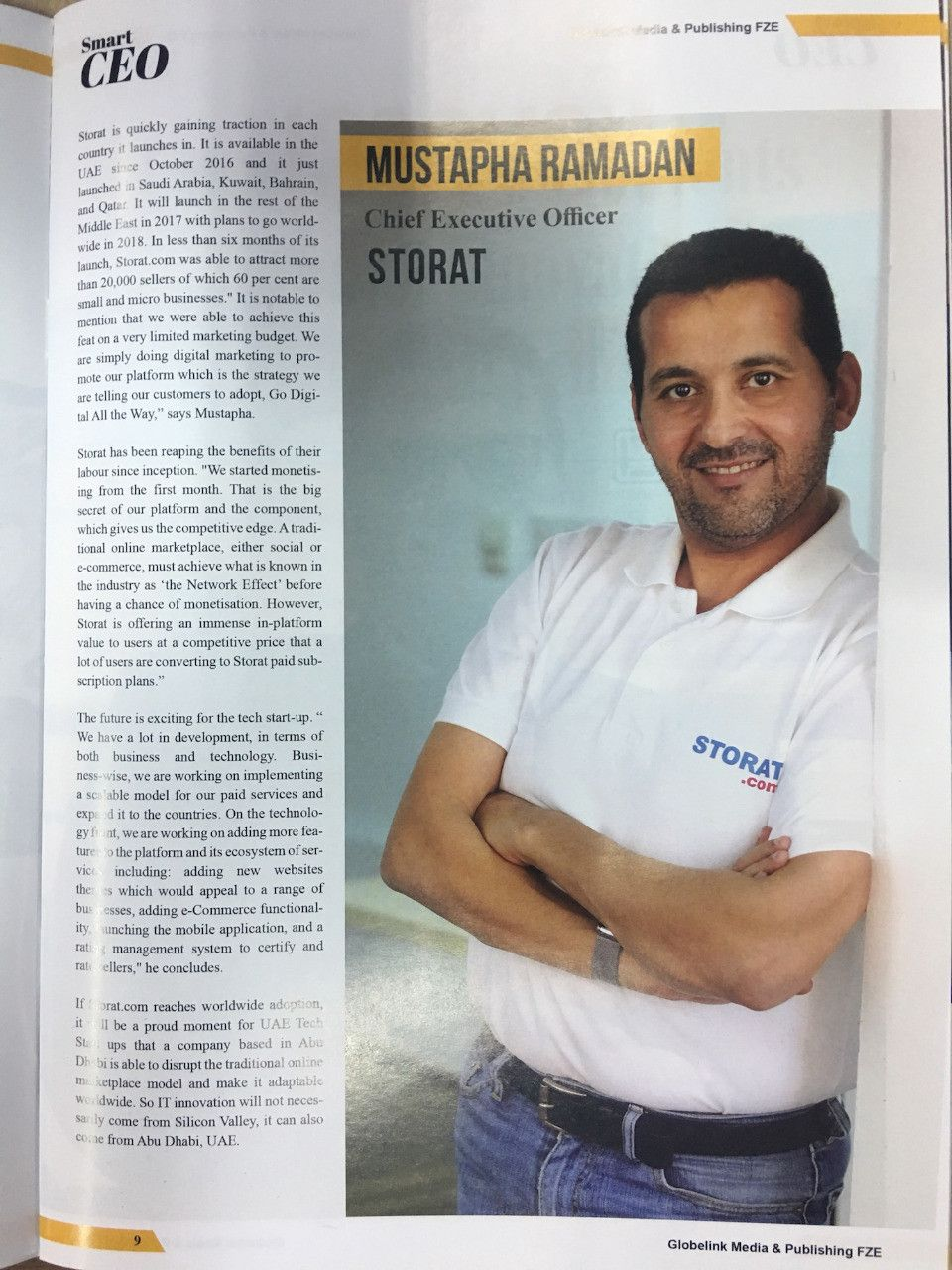 Storat.com is Featured on Khaleej Times: Go Online or Go out of Business