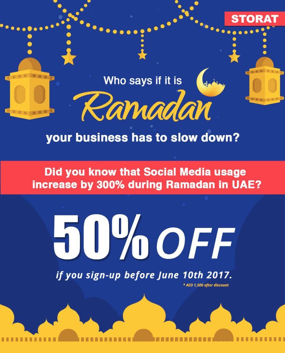 Who says if it is Ramadan YOUR business has to slow down?