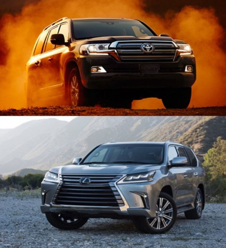 What are the differences between Lexus LX vs. Toyota Land Cruiser