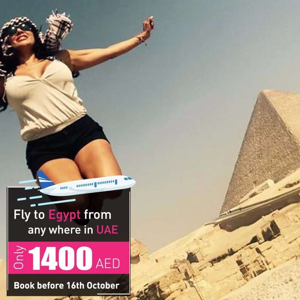 Cheap Flights from UAE to Egypt at AED 1400- Heliopolis Travel
