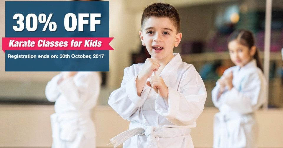 October Offer - 30% Off on Karate Classes for Kids