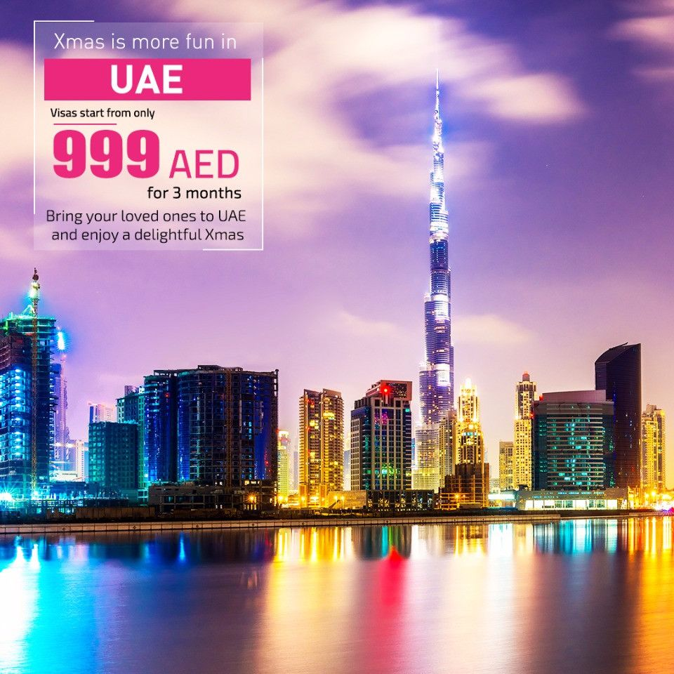 Celebrate Christmas in UAE- Avail Visa Services at AED 999