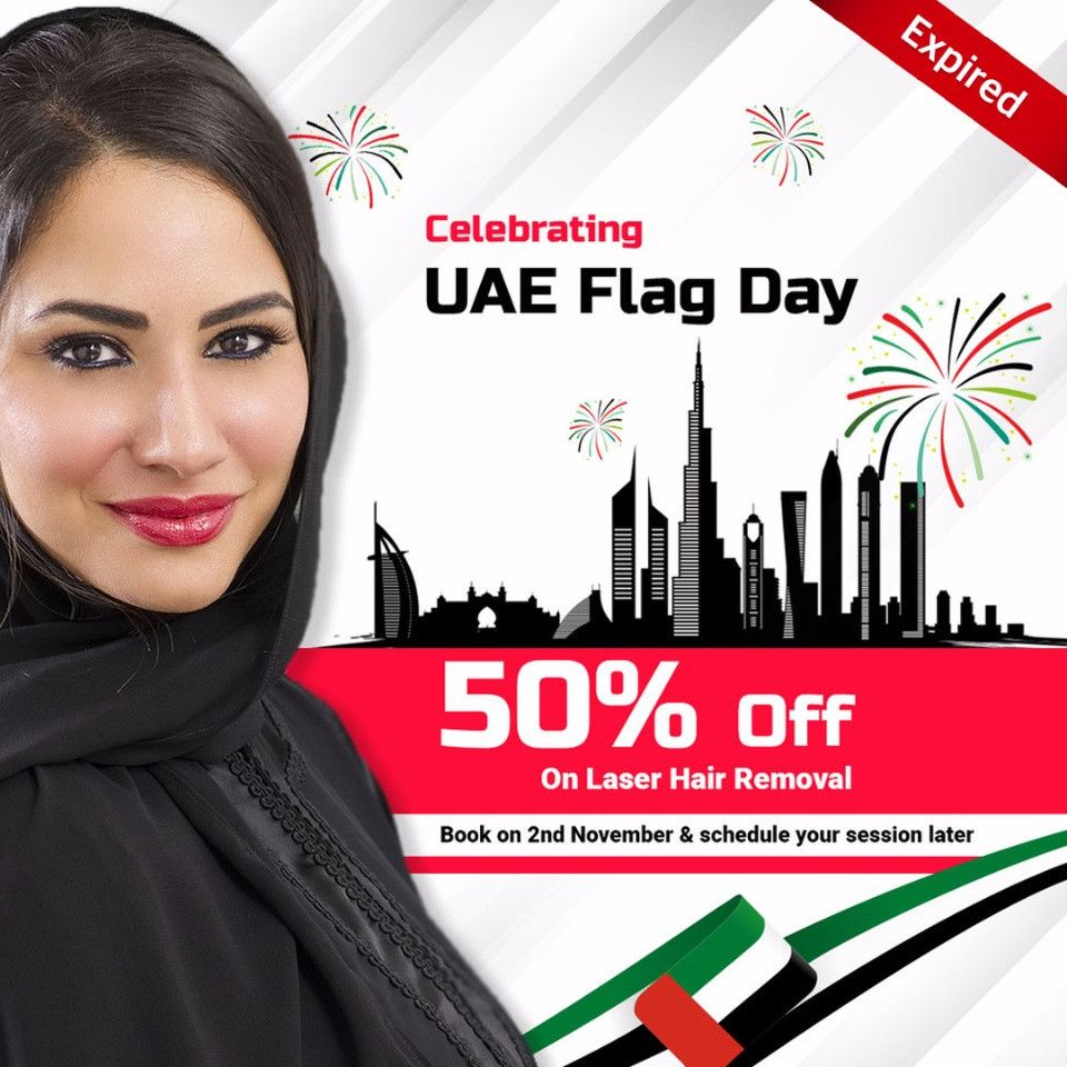 50% Off on Laser Hair Removal Treatments in the occasion of Flag Day in Abu Dhabi