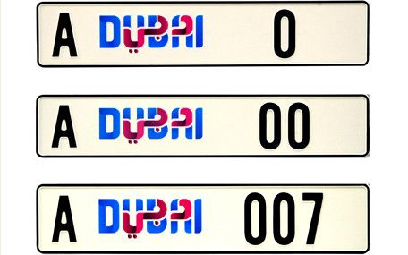 Number Plates for Sale in Dubai