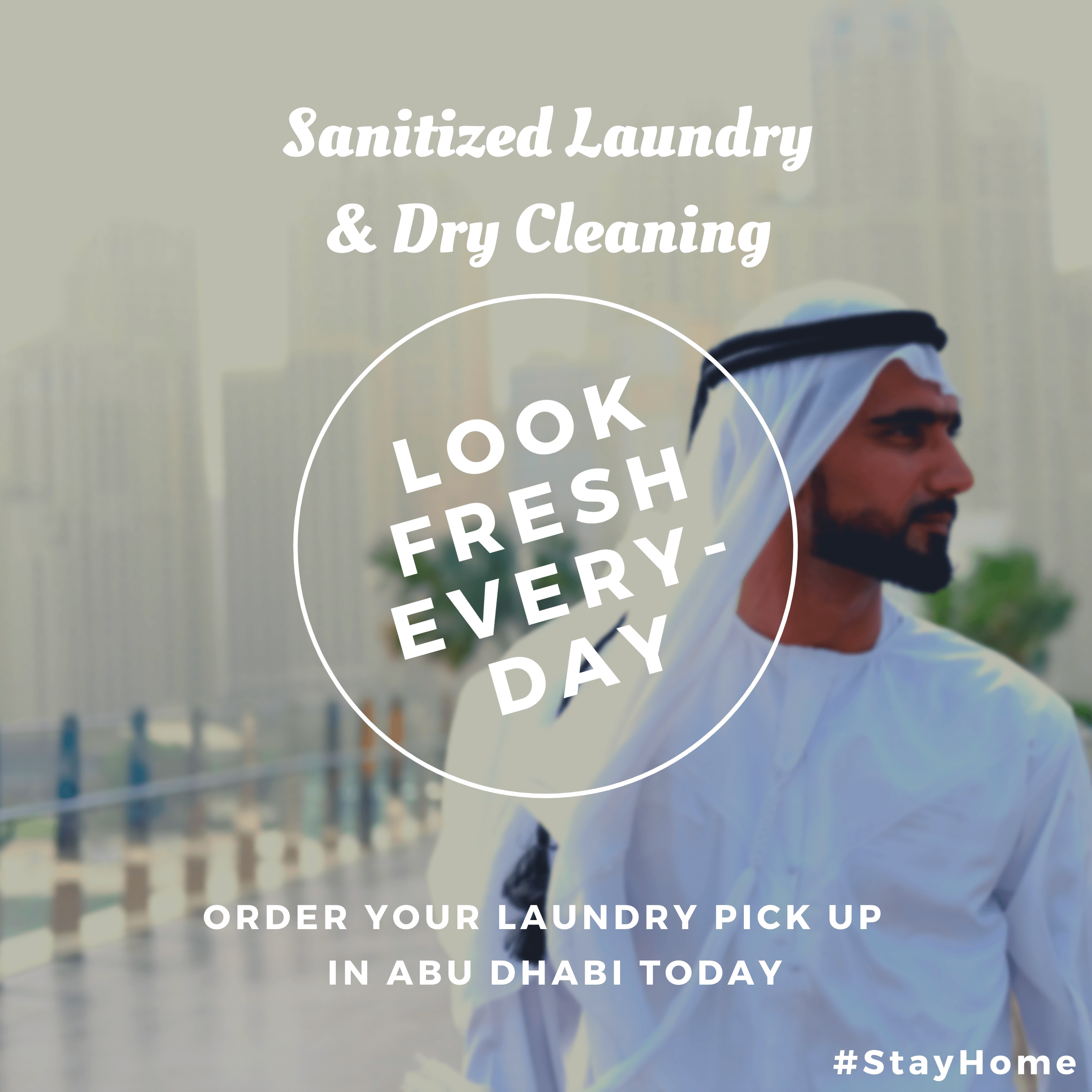 Sanitized dry cleaning in Abu Dhabi