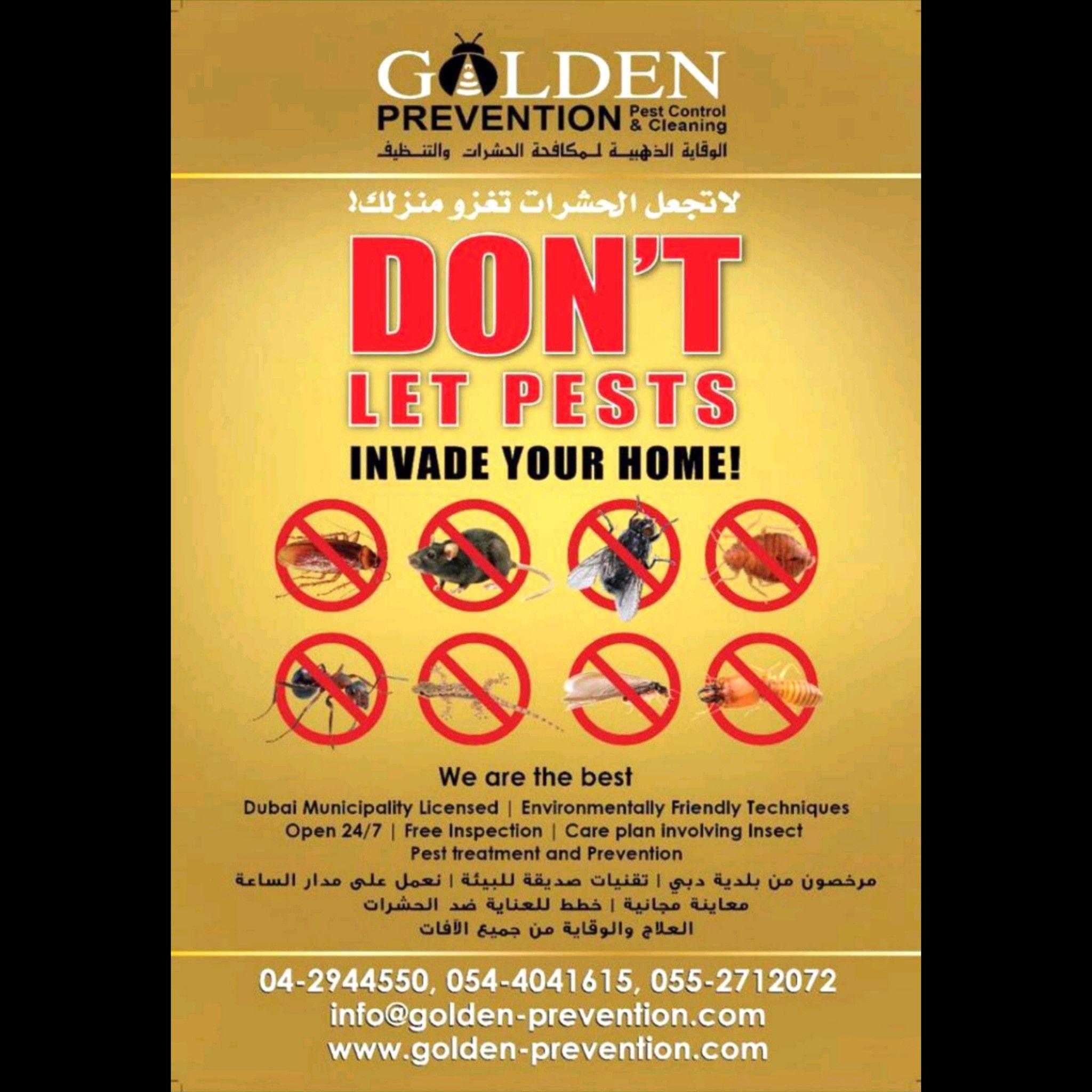 الوقاية لمكافحة الحشرات 3