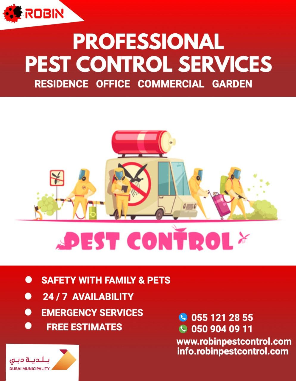 Robin Pest Control 25